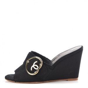 Chanel Wedge Slides
